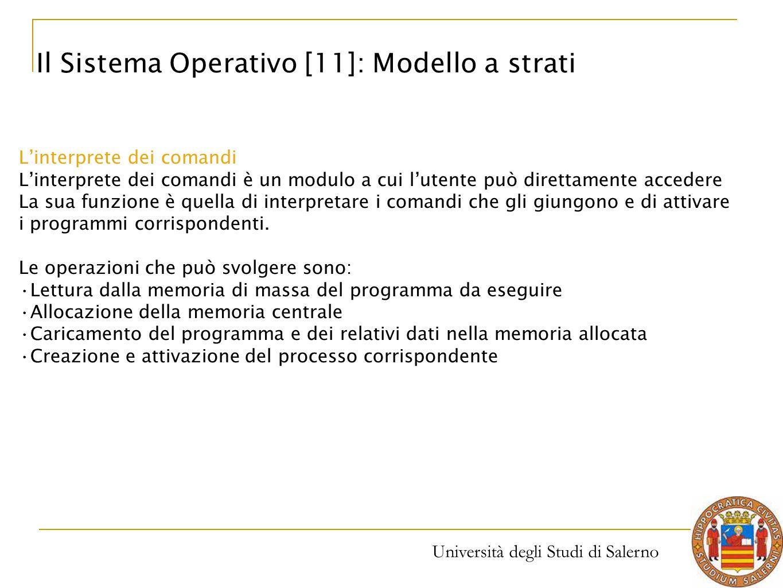 Il Sistema Operativo [11]: Modello a strati